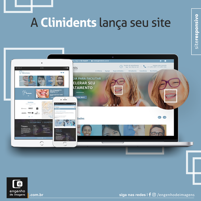 Novo site - Clinidents Clinica Odontológica