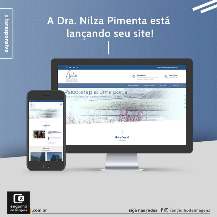 Novo site - Dra. Nilza Pimenta