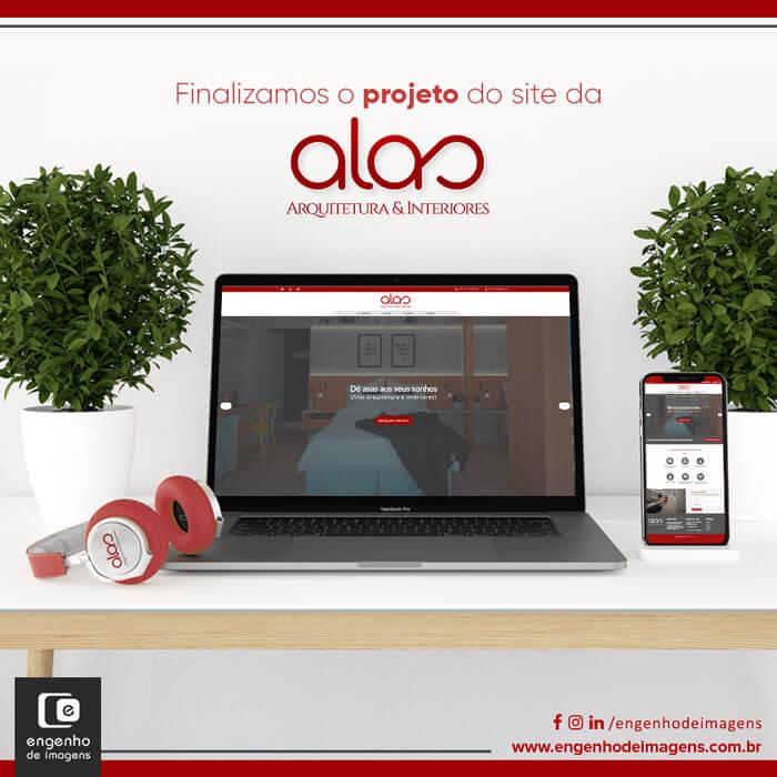 Novo Site | Alas - Arquitetura & Interiores
