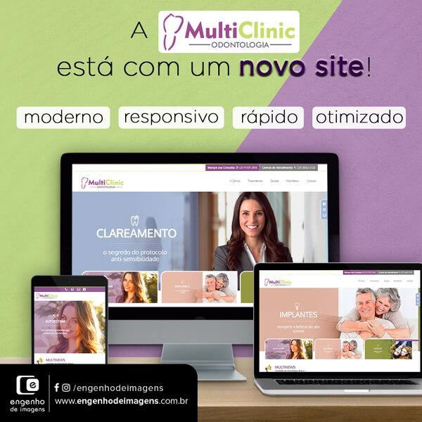 Conheça o novo site da Clínica MultiClinic