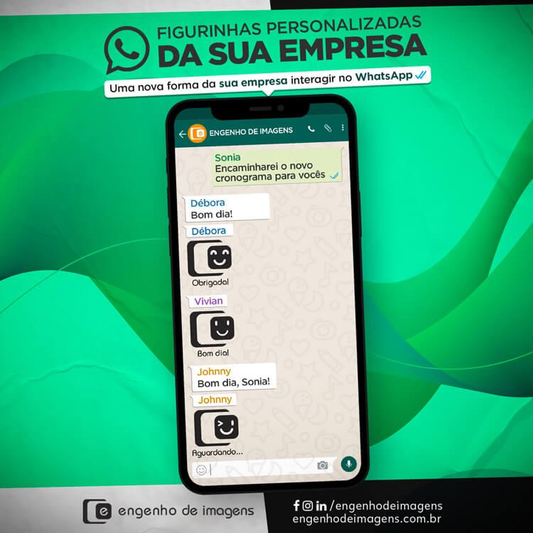 Exclusividade Engenho de Imagens: Figurinhas personalizadas para o WhatsApp!