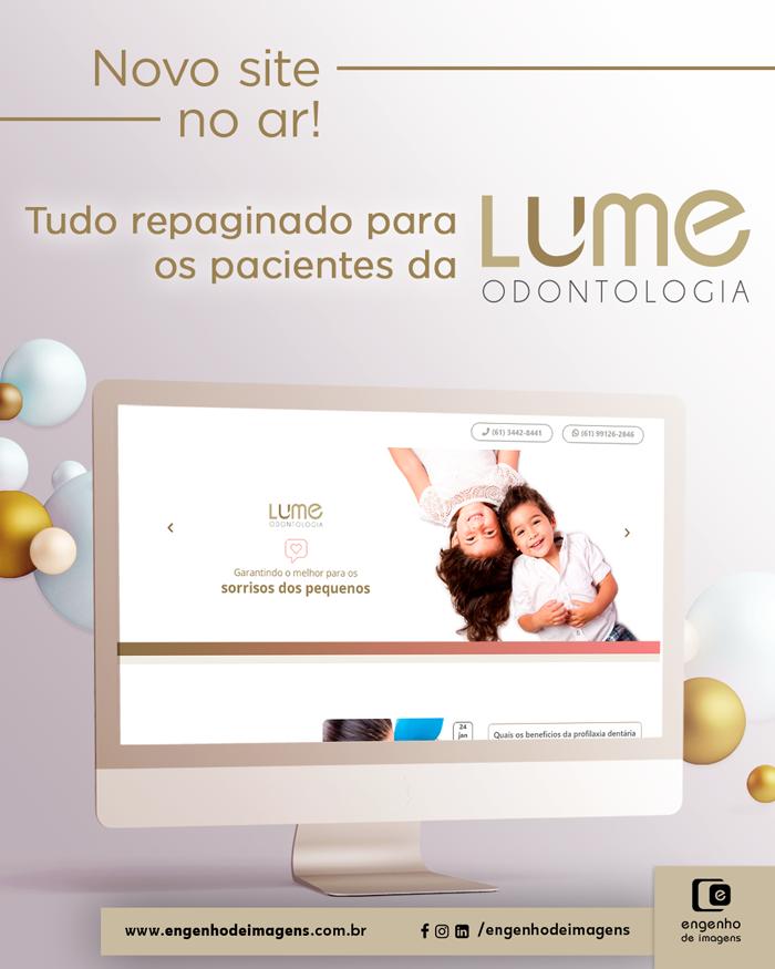 Novo site: Lume Odontologia!