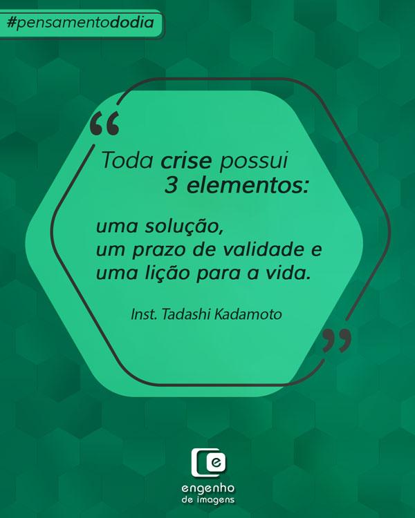 #pensamentododia: elementos da crise
