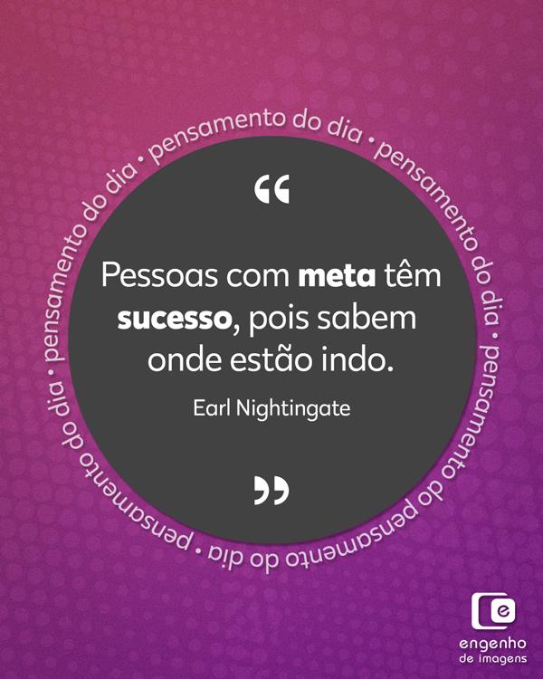 #pensamentododia: metas para o sucesso
