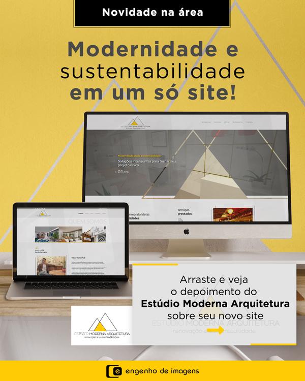 Novidade: Novo site do Estúdio Moderna Arquitetura