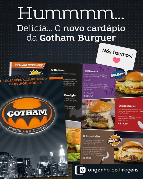 Confira o cardápio da Gotham Burguer!