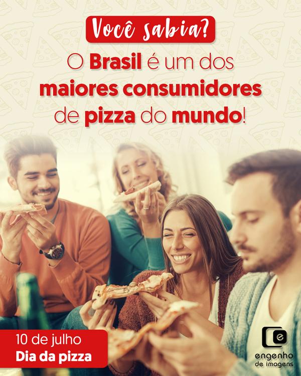 Você sabia? O Brasil é um dos maiores consumidores de pizza do mundo!