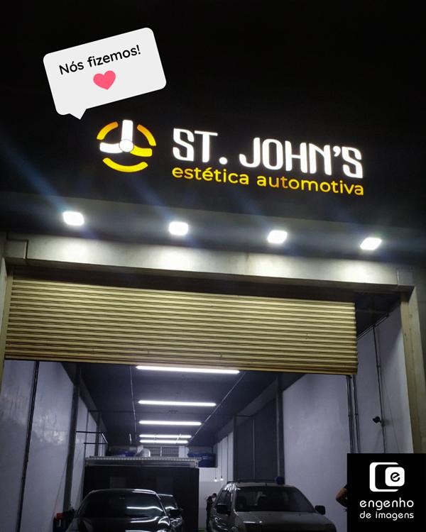 Resultado: logo ST. John's!