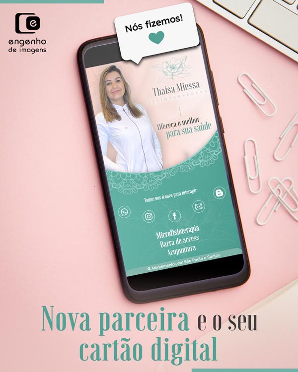 Nova parceira e o seu cartão digital