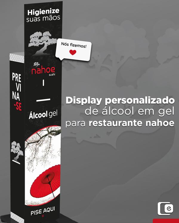 Display personalizado de álcool em gel