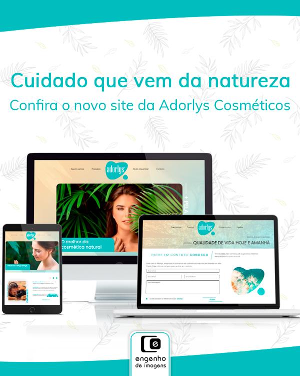 Novo site no ar: Adorlys Cosméticos!