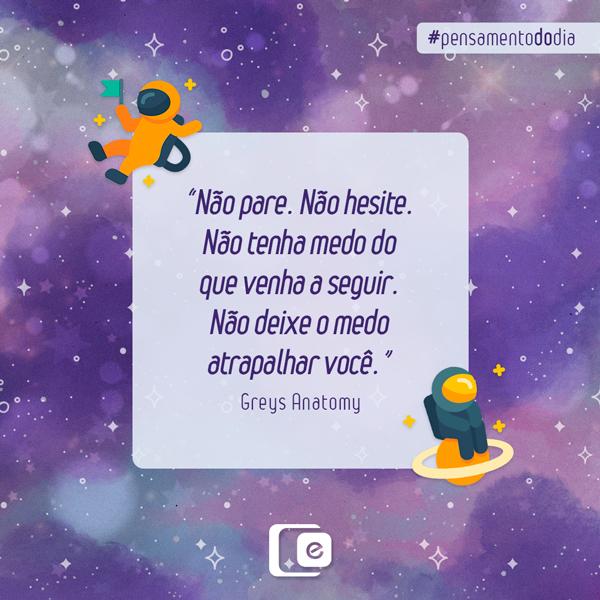 #pensamentododia: não pare!